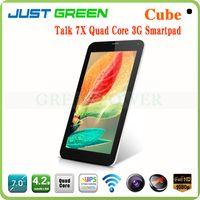 Under $200 Cube TALK7X Cube Talk 7X quad core 3g tablet pc price China 7 inch 1024*600 IPS Screen 1GB RAM 8GB ROM MTK8382 android4.2 GPS Bluetooth 3G Phone Call