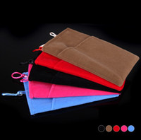 Wholesale High Quality Soft Protective Phone Cloth Sleeve Bag Pouch For Iphone S Samsung galaxy S3 S4 S5 i9500 i9600 Cloth PA1599