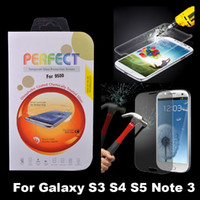 Wholesale Premium Real Tempered Glass Film Screen Protector for Samsung Galaxy S3 S4 S5 Note Note4 I9300 I9500 I9600
