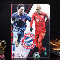new arrival 30PCS Football star PU Leather Tablet Case with ...