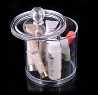 Plastic acrylic cosmetic display - High Quality Clear Acrylic jewelry storage display Organizer crystal cosmetic holder boxes K07550