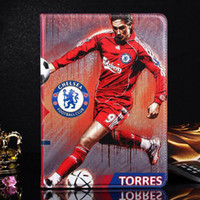 promotion 50PCS Football star PU Leather Tablet Case with Co...