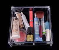 Plastic acrylic display box - Factory Price Transparent Square space Transparent Crystal Storage Box makeup Organizer Cosmetic Acrylic Clear Jewelry Display Case