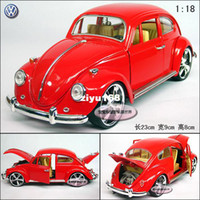 Wholesale 1 Webworm base with the beatles gift box alloy car model black red silver