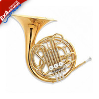 Wholesale Genuine four button double gold tone horn F B flat JYFH E130G Gold lacquer high quality beginner