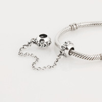 Metals pandora - Authentic Sterling Silver Love Connection Safety Chain Charm Fits European Pandora Jewelry Bead Bracelets