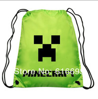 Wholesale Minecraft bag Minecraft backpack Minecraft Draw String Backpack Sling Bag Good Quality in stock Same Day Shipping