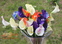Wholesale 60pcs cm Artificial Flowers Real Touch Calla Lily Yellow Purple Green Orange Wedding Decorative Flowers Artificial Flower