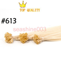 "Brazilian Hair #60 #613 Straight Best Hair 18""--26"" Nail U-Tip V-Tip Hair Extensions Color#60 #613 l100% Brazilian Virgin Hair Silky Straight Hair 100g piece Grade AAAAA"