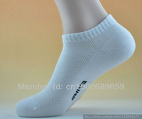 Men Sock Athletic Free shipping 20pcs=10 pairs=1 lot Wholesale Cotton Blends Men Sport Ankle Socks OK For US size 7-11. Quick Shipping