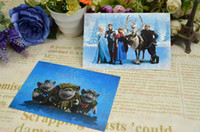 Wholesale New Hot Retail Anime Cartoon Frozen Fashion postcards Bookmarks Christmas Card Greeting Card set Postcard Gift