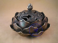 Wholesale cheap Exquisite Crafts Brass Lotus Incense Burner censer