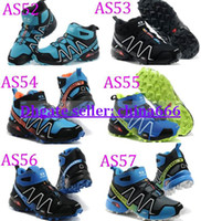 Wholesale Colors Hot Men Salomon cross country hiking high Solomon for outdoor climbing shoes men s Sport Running Shoes
