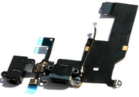 Wholesale IPHONE BLACK LIGHTNING DOCK HEADPHONE JACK CONNECTOR FLEX CABLE Free HONGKONG POST CHINA POST Shipping