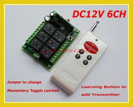 Descuento control remoto 315 Sistema de conmutación inalámbrico de control DC12V 6CH Canal de conmutación / Momentary / Latched cambiar libremente Código de aprendizaje 315/433 Receptor de RF Transmisor