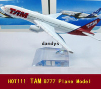 Wholesale TAM B777 airlines air plane model cm Simulation metal airplane model aircraft model Toy Business Gifts dandys