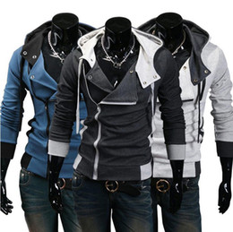 Wholesale Hot New AST001 Hot New Assassin s Creed Desmond Miles Hoodie Top Coat Jacket Cosplay Costume assassins creed style Hooded fleece jacket