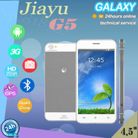 Wholesale Free gift original multi language jiayu g5 android GB ram G rom MT6589T Quad Core quot Screen MP Cam G phone