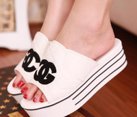 Wholesale 2014 summer bright sequins women sandals flats slippers canvas platform shoes Flip flops New fashion