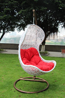 Wholesale Outdoor furniture gourd hanging basket hanging chair rattan swing rattan chair indoor outdoor balcony bird nest hanging basket