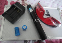 Blue No No 2014--Wholesale - NEW 20000mW 20W focusable burning Blue laser pointer + free laser glasses +free shipping