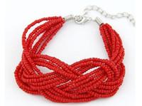 beaded bracelet patterns - Mix Colors Bohemian Beaded Bracelet Hand Made Pure Color Pattern Bracelets