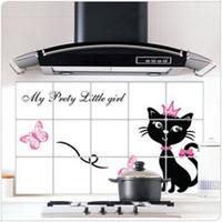 Graphic vinyl PVC Animal Free Shipping Kitchen smoke tile stickers oleopholic aluminum foil kitchen cabinet pattern
