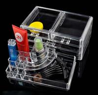 plastic drawer storage box - Acrylic clear makeup organizer drawer transparent crystal cosmetic jewelry storage box K07555