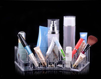 Wholesale Factory Price sets Clear Acrylic Crystal Cosmetic Organizer Makeup Case Holder Storage Box