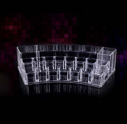 Wholesale EMS sets Clear Acrylic Crystal Cosmetic Organizer Makeup Case Holder Storage Box