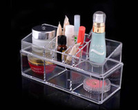 Wholesale Promotion Sets Clear Acrylic Princess Tub Box Cosmetic Organizer Makeup Jewelry Display Case Wedding Christmas gift