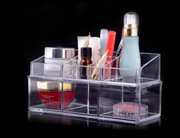 Wholesale EMS Sets Clear Acrylic Princess Tub Box Cosmetic Organizer Makeup Jewelry Display Case Wedding Christmas gift
