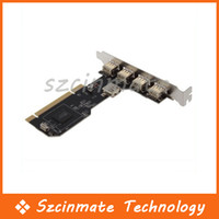 Wholesale 5 Ports Mbps USB PCI CARD Controller Adapter Adaptor Converter