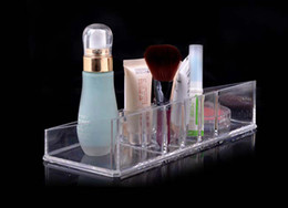 Wholesale 20 Sets Cosmetic Organizer Makeup Jewelry Display Box Acrylic Cabinet Lipstick brush Case