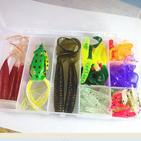Soft Baits Worms Saltwater Hot Sell Pesca Mix 100pcs box Plastic Fishing Lures Set Soft Bait Jig Big Artificial Ocean Lure Accessories For Fishing