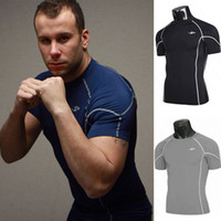 Wholesale Men s Designer Quick Dry T Shirt Tees Running Fitness Short Sleeve Top Sport T shirts Male Gym Clothing HAD0212