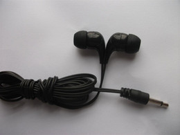 Disposable Black Mono Earbud Headphones Low Cost Erbuds For School,Hotel,Gyms,Hospital 50pcs lot