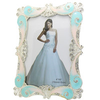 glass photo frame - 4X6inch European Elegant Luxury Glass Crystal Butterfly Cording Wedding Photo Frame Home Decoration Birthday Gift PF013