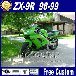 Popular fairing kit for Ninja Kawasaki ZX 9R 1998 1999 green black fairings motorcycle parts ZX-9R 98 ZX9R 99 with 7gifts fr11