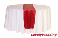 Wholesale HOT SALE polyester NAVY BLUE satin table runner SIZE CM for wedding decoration