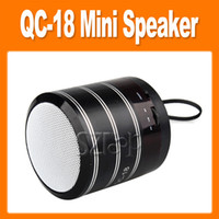 Wholesale QC Music Mini Speaker MP3 Player Sound Box Speakers Subwoofer FM TF Radio for iPad iPhone S4