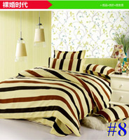 Diamond velvet Knitted Home Factory Outlet! Bedding set (sheets + quilt + pillowcase * 2) diamond cotton 4 sets 18 kinds of styles sizes 1.2M 1.5M 1.8M