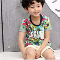 2014 Summer New Arrival Children Boys Tropic Flowers Printed...