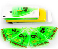 Wholesale 2014 Newest Official edition R SIM R SIM RSIM9 R_SIM GOLD Unlock SIM Card available for iphone S C S G G IOS X IOS7