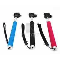 Mini Monopods Aluminum Alloy  Free Fedex New Flexible Mini Portable Handheld Extendable Monopod Self Photos for Digital Camera Phone