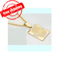 Earrings & Necklace allah pendant necklace - Muslim Allah Pendant Earrings Jewelry Sets K Real Gold Plated High Quality Islam Jewelry Set Jewel