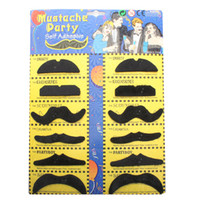 Wholesale New arrival Hot Self Adhesive Mustaches Set of Fake Costume Halloween