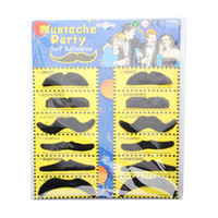 Wholesale New arrival Hot Self Adhesive Mustaches Set Fake Costume Halloween