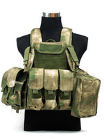 airsoft vest - Phantom Military Molle Airsoft Tactical Strike Plate Carrier Hunting Vest A TACS FG Camo