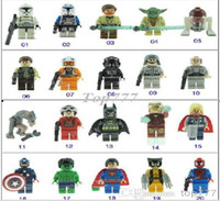 Wholesale The Star Wars Toy Super heroes The Avengers Toys Enlighten Building block Toys For Children s Christmas gift The Avengers Toys